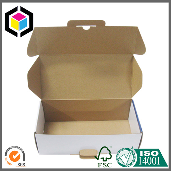 Locking Tab Custom Color Print Cardboard Paper Shipping Box