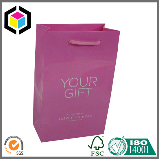 Glossy Lamination Custom Color Paper Packaging Bag for Perfume