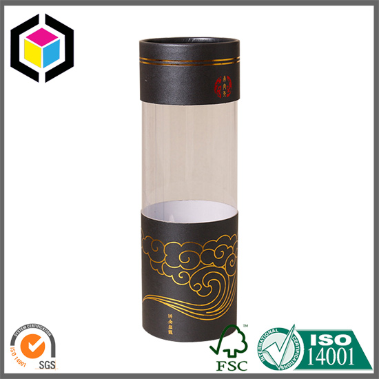 Color Printing Pencil Paper Tube with Plastic Window