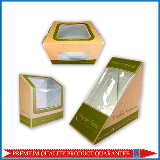 Sandwich Food Paper Box with Window