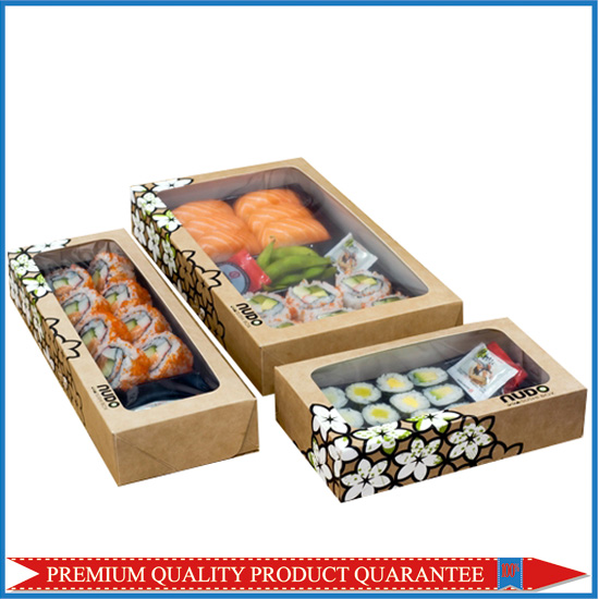 Sushi Kraft Paper Box with Window