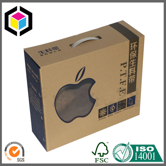 Recycled Cardboard Packaging Box Plastic Handle