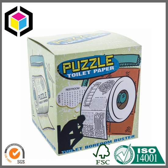 Colored Toilet Paper Cardboard Packaging Box