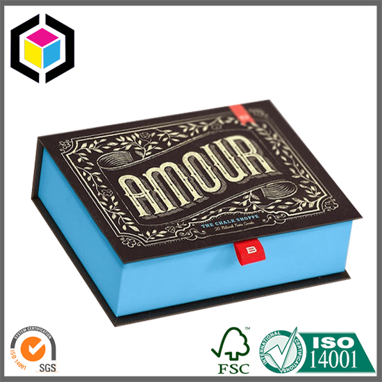 Ribbon Tie Book Shape Color Printing Card Paper Gift Box