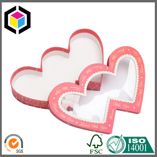 Clear Window Heart Shape Gift Packaging Box Factory China