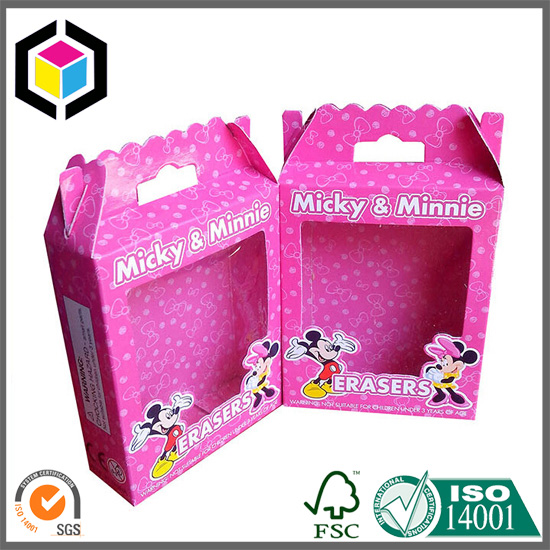 Micky Mouse Color Print PVC Window Toy Cardboard Box