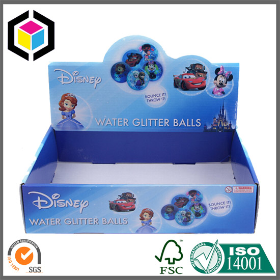 White Flute Corrugated Display Box for Disney