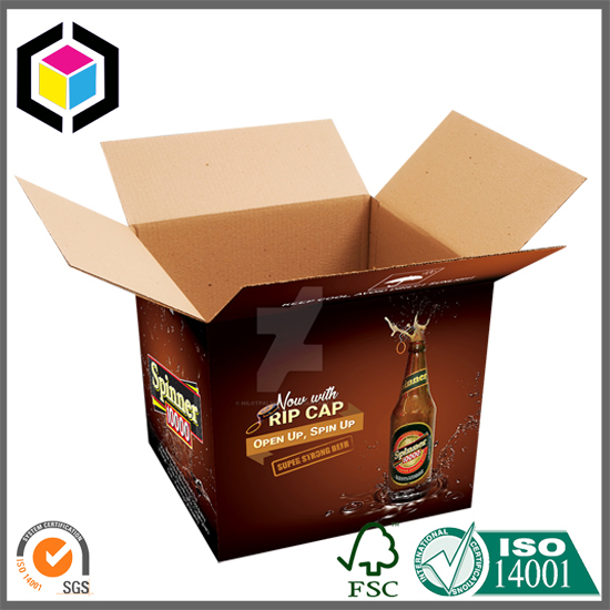 RSC Color Print Beer Corrugated Carton Packaging Box