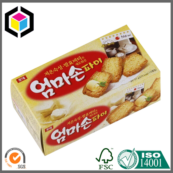 Color Printed Tuck in End Carton Box for Biscuit