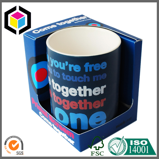 Full Color Printing Corrugated Cup Holder Box