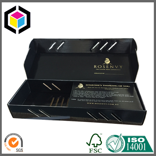 Glossy Color Print Fresh Flower Cardboard Corrugated Shipping Box