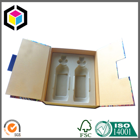 Molded Insert Custom Paper Gift Packaging Box for Bottles