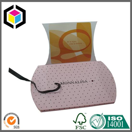 Matte Color Pillow Shape Paper Packaging Gift Box