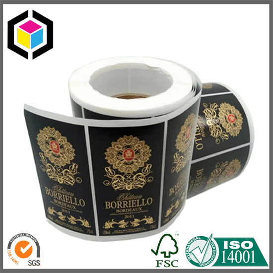 OEM Color Hot Stamping Paper Material Wine Labels Roll