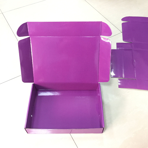Two Sided Color Printed Corrugated Paper Shipping Box