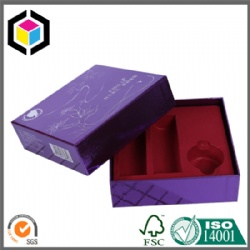 Flocking PET Insert Rigid Paper Cosmetics Packaging Box