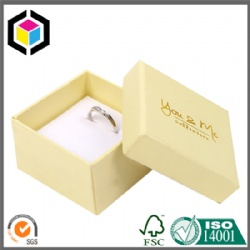 Gold Hot Stamping Custom Logo Jewelry Ring Cardboard Paper Box