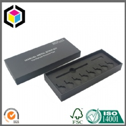 OEM Black Foam Rigid Cardboard Paper Pen Gift Box