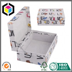 Hand Made Luxury Lid Hinged Rigid Cardboard Color Gift Paper Box