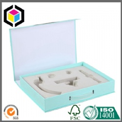 Plastic Handle Rigid Cardboard Gift Paper Packaging Box