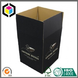 Black Color Print Corrugated Cardboard Paper Shipping Box
