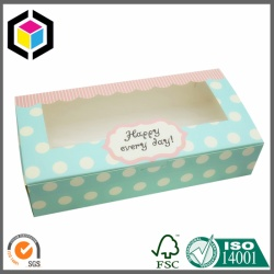 Food Grade Biscuit Clear Window Paper Box
