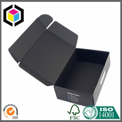 Matte Black Color Printed Cardboard Shipping Box