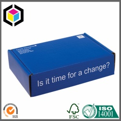 Glossy Blue Color Printing Corrugated Shipping Box
