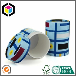 Color Print Paper Tube with Lid