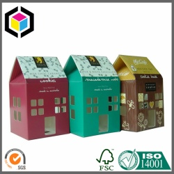 House Shape Color Print Paper Box