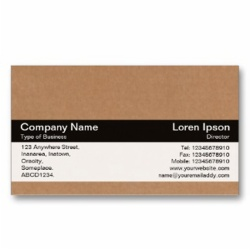 cardboard business card; name card