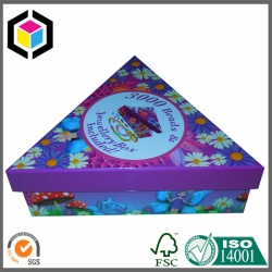 Triangle Shape Color Print Jewellery Gift Box