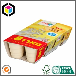 Yoghourt Cup Pack Color Printed Paper Sleeve