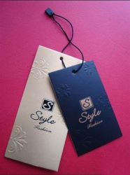 China fashion paper hang tag for garment