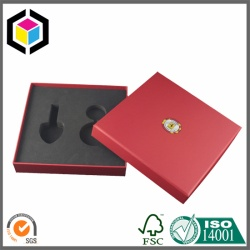Black Color EVA Insert Gift Packaging Box Lift Off Lid Format