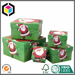 Cardboard Large Christmas Gift Box Set for Presents
