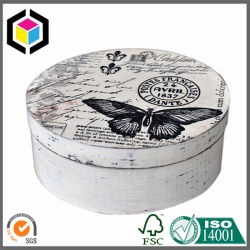 OEM Design Color Printing Round Cardboard Gift Box