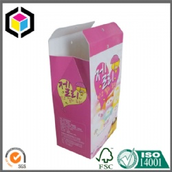 Gable Top Snacks Color Paper Box with Glossy Lamination