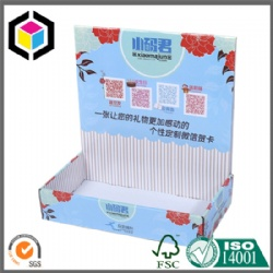Color Print White Flute Cardboard Display Box