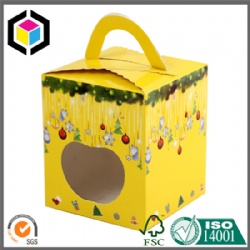 Colorful Print Christmas Apple Packaging Paper Box