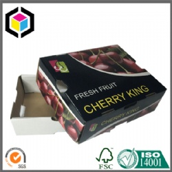 Fresh Cherry Color Packaging Corrugated Box with Lid