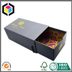 Gold Logo Corrugated Drawer Box for Shoes