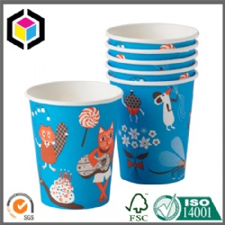 Custom Design Color Print 8oz Paper Cups