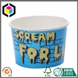 Colorful Print 6oz Ice Cream Paper Cup with Lid
