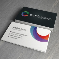 90x54mm business card made of ivory board