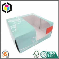 Custom Full Color Print Cardboard Cake Box with Window