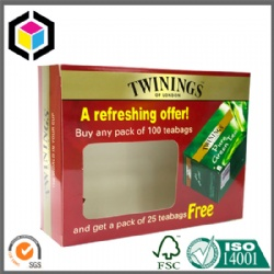 Glossy Color Print Cardboard Paper Box for Teabags Dubai