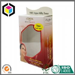 Clear Plastic Window Cosmetic Paper Packaging Box