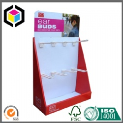 Strong Cardboard Paper PDQ Display Stand with Hanging Bar