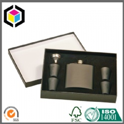 Personalized Black Cardboard Paper Gift Packaging Box for Cosmetic